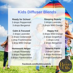 Check out these Essential oil diffuser blends for kids, your children will love these blends! We make ours using doTERRA CPTG essential oils! If you would like to know more make contact with us :)