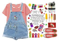 """""""kids"""" by maze-idealize ❤ liked on Polyvore featuring Joie, Polaroid, Converse, Disney, ASOS, Essie and Dita Von Teese"""