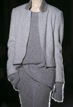 Grey layers -- Haider Ackermann F/W 2014 #style #fashion