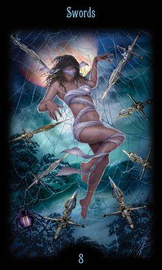 8 d'épées - Legacy of the Divine Tarot par Ciro Marchetti