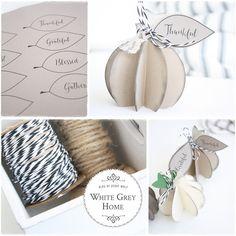 white grey home: Blog Hop Herbst, DIY Kürbisse