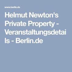Helmut Newton's Private Property - Veranstaltungsdetails - Berlin.de