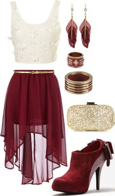 Burgundy And Gold  L.o.v.e. - Click for More...