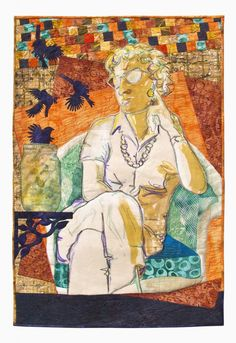 """Lillian's Expectations"" by Bobbi Baugh, a quilt from the special exhibit ""SAQA: Balancing Act."" 2015 Houston IQF.  Photo: Quilts Inc."