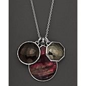 "Ippolita Sterling Silver Wonderland 3 Stone Pendant Necklace in Lambrusco, 32"""