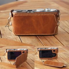 leather handmade camera case