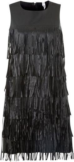 House of Fraser True Decadence Pu tassle tier dress on shopstyle.co.uk