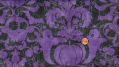 'Ghouls Night Out' Spooky Purple Damask Halloween Fabric | eBay