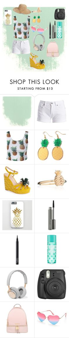 """""""Summer outfit"""" by ititonyjaz ❤ liked on Polyvore featuring Barbour International, Kate Spade, Rachel Jackson, MAC Cosmetics, NARS Cosmetics, B&O Play, Fujifilm, MICHAEL Michael Kors, Beauty & The Beach and Nordstrom"""