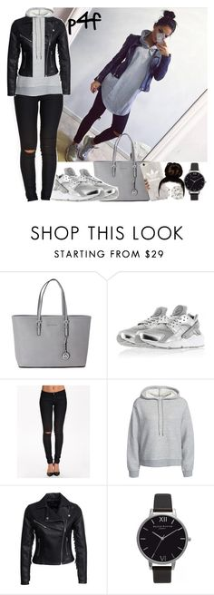"""Passion 4Fashion: Break it down"" by shygurl1 ❤ liked on Polyvore featuring Michael Kors, Sally&Circle, T By Alexander Wang, New Look, Olivia Burton and adidas"