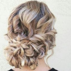 romantic braided wedding updo  ~  we ❤ this! moncheribridals.com