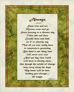 ALWAYS, wedding vows/gift or anniversary, by Terah Cox Wedding Prayer, Wedding Poems, Wedding Readings, Wedding Cards, Good Morning Beautiful Poem, Beautiful Prayers, Love Poems, Love Quotes, Good Marriage