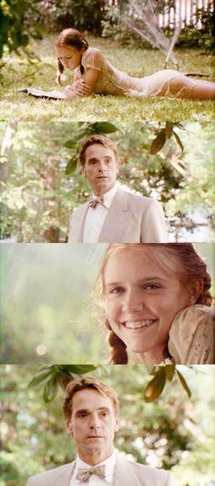 Lolita, 1997 (dir. Adrian Lyne). Stills in a variation on shot/reverse shot editing.