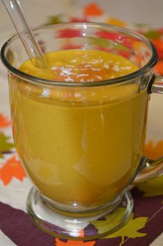 Pumpkin Coconut Almond Smoothie (dairy free, gluten free, cane-sugar free, soy free, vegan)