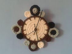crochet wall clock!