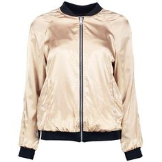 Boohoo Emilia Reversible Satin Bomber | Boohoo (429.600 IDR) ❤ liked on Polyvore featuring outerwear, jackets, double face jacket, pink jacket, bomber jacket, reversible jacket and pink bomber jacket