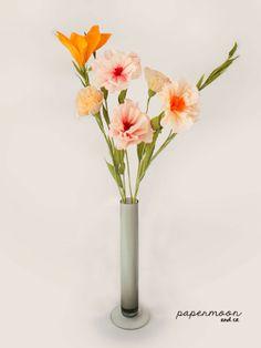 Centro de flores de papel crepe                                                                                                                                                                                 Más