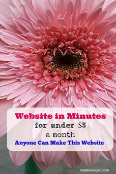 Start a website for under $5 a month. It's super easy!