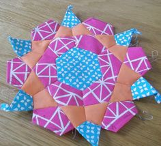 english paper pieced rose star