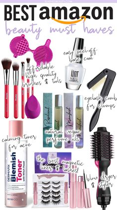 7 Affordable Amazon Beauty Must Haves I Can't Live Without | Best Amazon Beauty Products | Slashed Beauty Best Beauty Tips, Diy Beauty, Beauty Women, Beauty Hacks, Amazon Beauty Products, Beauty Products Must Have, Best Drugstore Makeup, Dupe Makeup, Dip Manicure