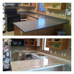 beauty counter products before and after Epoxy Countertop, Refinish Countertops, Pot Rack Hanging, Stone Flooring, Concrete Floors, Backyard Retreat, Before And After Pictures, Adjustable Shelving, Modern Contemporary