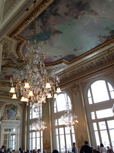 Musee d'Orsay Ceiling, Chandelier, Decor, Home Decor, Ceiling Lights
