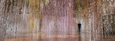 rebecca louise law presents an ethereal inverted garden installation