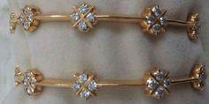 White stone bangles Diamond Bangle, Diamond Jewelry, Gold Jewelry, White Stone, Gold Bangles, Bangle Bracelets, Gold Ornaments, India Jewelry, Jaguar