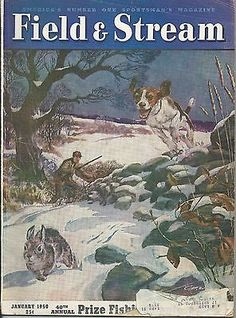 January 1950 Field Stream Magazine Colorful Cover Great Stories Advertising | eBay