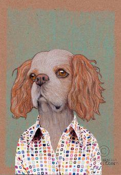 JO - Dessin,  14,8x21x0,1 cm ©2016 par evafialka -                                                                                                Art figuratif, Illustration, Portraiture, Papier, Animaux, Chiens, chien, portrait animalier, dog portrait