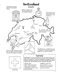 Pin by cherokee on map pinterest fun activities geography and map activity about switzerland gumiabroncs Images