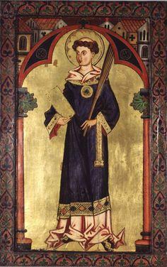 um 1260, Wormser Tafeln, Hl. Diakon. Darmstadt, Hessisches Landesmuseum