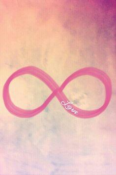 pastel infinity love wallpaper