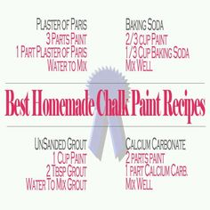 Chalk paint recipes                                                                                                                                                      More