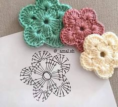 30 Free Crochet Flower Patterns Knitting Lovers is part of Crochet flowers free pattern - Free Crochet Flower Patterns consists of a process of creating fabric by interlocking the loops of materials such as yarn or thread used by artists Crochet Simple, Crochet Diy, Love Crochet, Irish Crochet, Beautiful Crochet, Russian Crochet, Japanese Crochet, Crochet Bows, Crochet Diagram