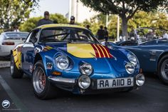 """The Alpine also known as the """"Berlinette"""", was a sports car produced by the French manufacturer Alpine from 1961 to The Alpine was introduced as an evolution of the The was powered by various Renault engines. Megane Rs, Alpine Renault, Automobile, Auto Retro, Military Equipment, Top Cars, Rally Car, Le Mans, Race Cars"""