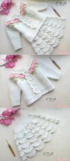 Костюм для девочки. Крючком. - Вязание - Страна Мам [] #<br/> # #So #Cute,<br/> # #Babies,<br/> # #Tissues,<br/> # #Love<br/>