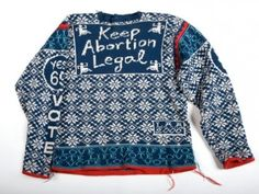 Lisa Anne Auerbach's Awesome, Arty Feminist Sweaters Holiday Sweater, Winter Sweaters, Lisa, Fair Isle Pattern, Fair Isle Knitting, Dame, Knitwear, My Style, Funky Style