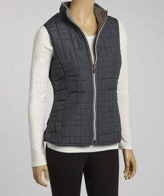 Take a look at this Dark Shadow Quilted Simone Vest by Aventura on #zulily today!