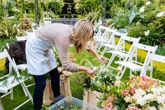 Passion-for-Flowers-behind-the-scenes-creating-a-floral-arch-at-Birtsmorton-Court: florist Passion for Flowers