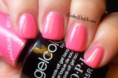 OPI GelColor Brazil Collection Kiss me I'm Brazilian (spring nail colors opi) Opi Gel Polish, Opi Gel Nails, Opi Nail Colors, Gel Polish Colors, Spring Nail Colors, Gel Color, Shellac, Spring Nails, Manicures