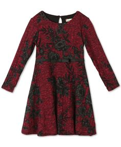 Speechless Girls' Floral Fit & Flare Dress