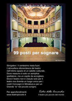 Il teatro goldoniano più piccolo al mondo! 99 places to dream, Monte Castello di Vibio (PG)