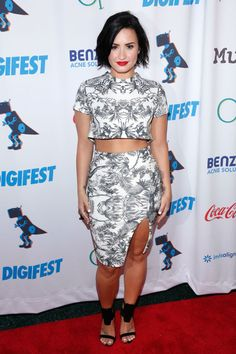 Demi Lovato attends DigiFest NYC 2015 in New York City on June 6, 2015.