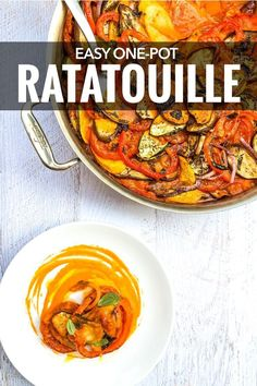 So so easy to make!! >> A classic French dish, this easy ratatouille recipe is perfect with summer vegetables but also comforting in winter. ~ http://www.baconismagic.ca