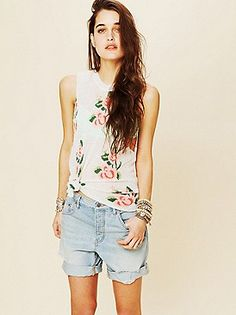 Free People New Boyfriend Denim Short at Free People Clothing Boutique