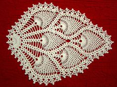 Although this pattern is a chair back doily, so many enjoy making it as shawl, similar to Doris Chan's exploded lace patterns. You can use Worsted weight yarn and a J/6.00mm hook to make a shawl.