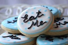 A dozen Eat Me Cookies for your Alice in Wonderland Themed Party. $28.00, via Etsy.