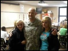 Soldier Surprises His Four Daughters After 13 Months of Deployment - YouTube....don't forget tissues