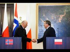 #King of #Norway, #Harald V visiting #Poland's President #Komorowski